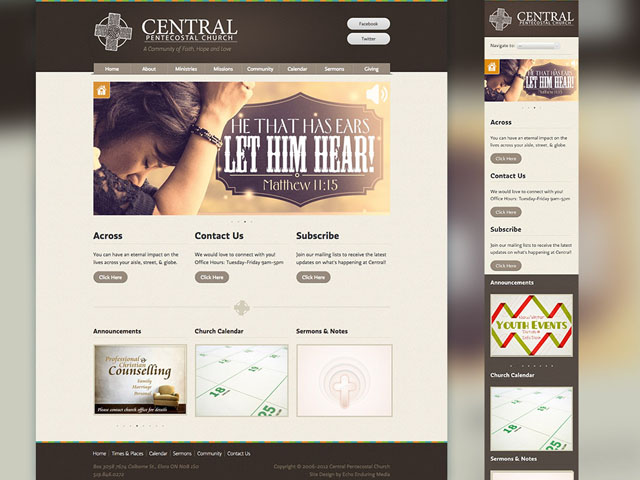 Central Pentecostal Church Website